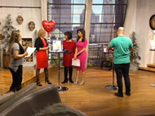 Dr. Barbara McClatchie, DDS prepping with the anchors on Good Day Columbus