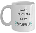 media relations coffee mug